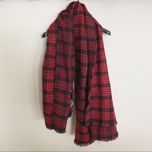 Zara Oversized Plaid Scarf